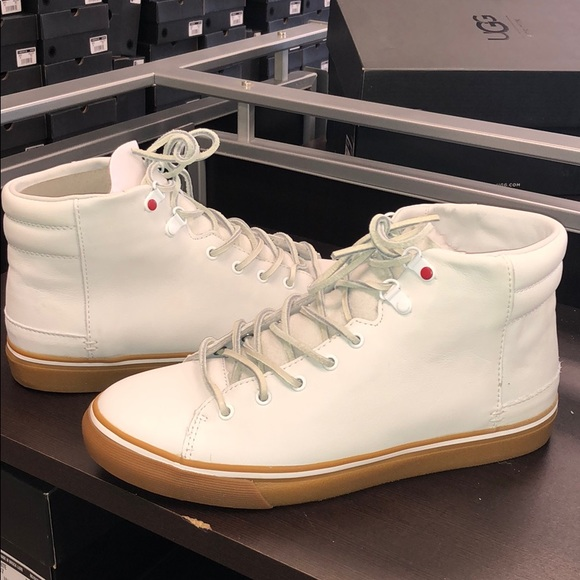 a25f068fbe6 ❤️New Men's Ugg Hoyt White leather sneakers 11 NWT
